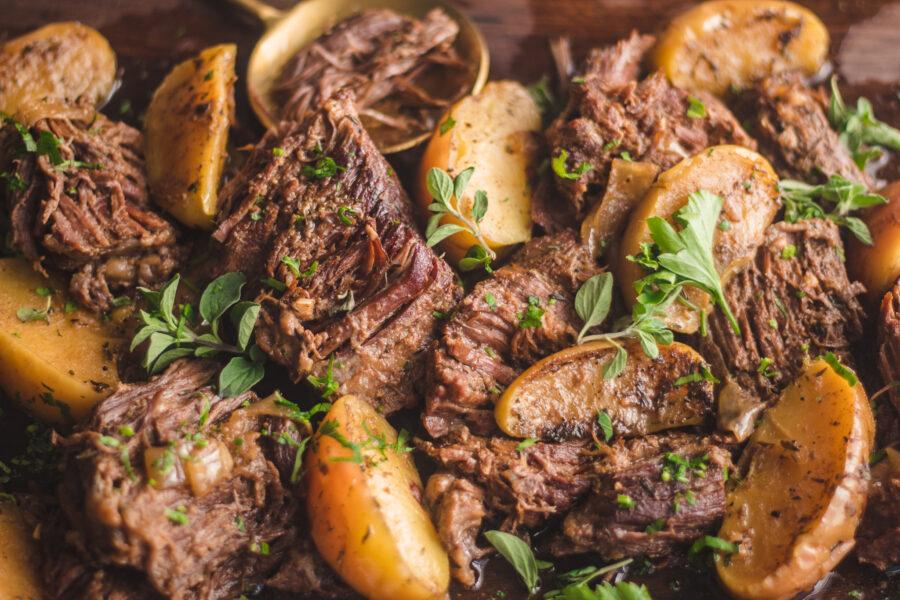 balsamic beef with bears recipe